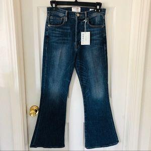 NWT Frame denim Le Crop Flare Jeans